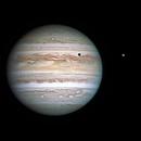 Jupiter, Io and its shadow, 2018-07-19,                                Sebastian Voltmer