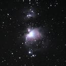 The Orion Nebula & Running Man Nebula,                                AstroCliffs