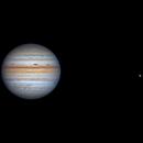 Jupiter & Ganymede 2021-09-13 12:49UT,                                David Cheng