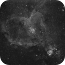 Heart Nebula Ha First light with Canon 6D monochrome,                                Xplode
