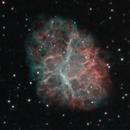 Crab Nebula in HOO and RGB,                                DiscoDuck