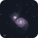 m51 of 23 March combined with a color image,                                Stefano Ciapetti
