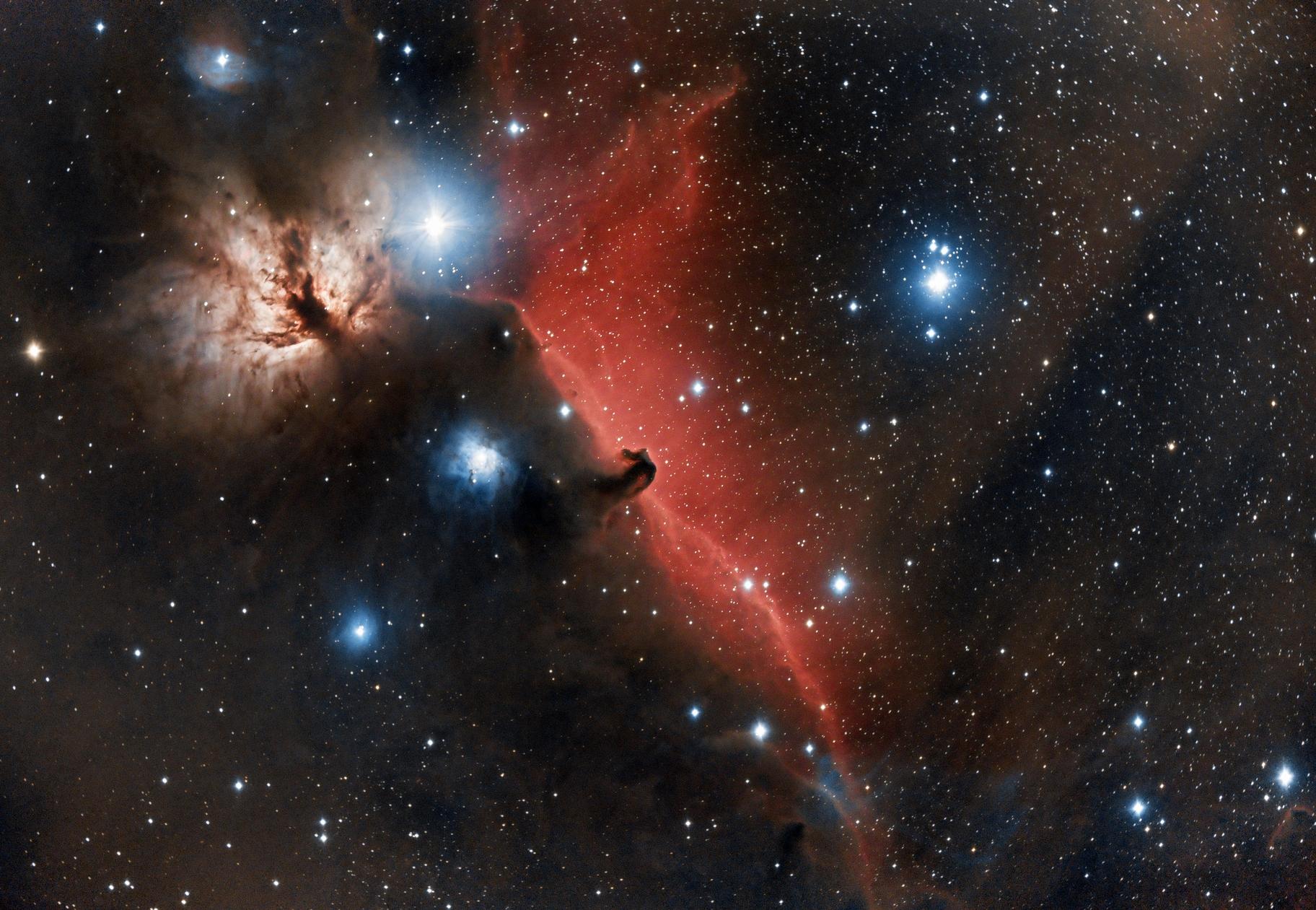 Ic434 - nébuleuse de la tête de cheval et de la flamme,                                astromat89