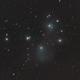 M 45 - sehr kurz belichtete Testaufnahme mit APO 71 SDQ von TS (extremely stretched),                                astrobrandy