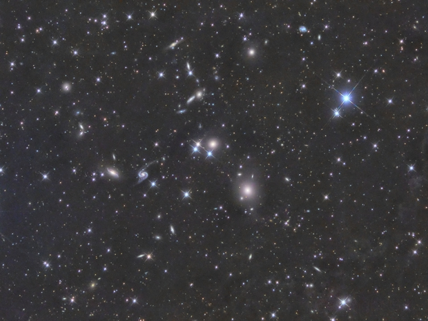 Galaxy group around NGC 80 with Arp 65 embedded in IFN,                                GJL