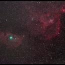 C/2014E2 Jacques and IC1805 - IC1848,                                Fuuma-mfuk