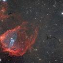 Squid in a Flying bat, Dark Seahorse nebula and the Fireworks galaxy,                                Sendhil Chinnasamy