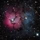 M20 - The Trifid Nebula,                                Leslie Rose