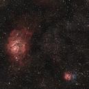 Lagoon & Triffid Nebulae With LPS-D1,                                Pat Darmody