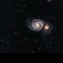 M51 - Whirlpool Galaxy - Mono Camera,                                Greg Polanski