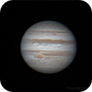 Jupiter and Callisto on December 30th, 2014.   Animated gif made after stacking 23 avi files.,                                Daniel Leclerc