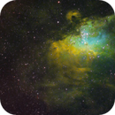 M16 Eagle Nebula in Hubble Palette SHO,                                Adam T.