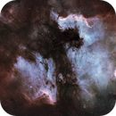North American and Pelican Nebula with hour long subs from my roof near Finsbury Park in central London,                                astrobiscuit