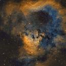 NGC 7822 - Sii, Ha, Oii 3 panel mosaic,                                Brad