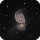 Interacting galaxies, NGC 5194 and NGC 5195 in Canes Venatici.,                                flyingairedale