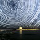 La Pelosetta Beach by Night -  Startrails,                                astrotaxi