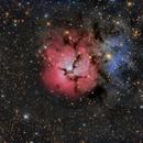 M20 Trifid Nebula LRGB,                                Chad Andrist