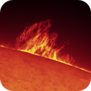Sun H Alpha on 2021-04-25 11:30 UTC,                                Ruediger