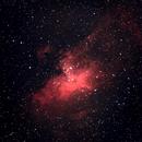 M 16 The Eagle Nebula, Serpens, 25 e 26 Giugno 2017,                                Ennio Rainaldi