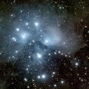 M45 Pleiades,                                interplanetary