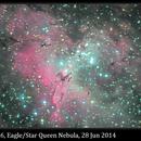 M16, Eagle/Star Queen Nebula (Pillars of Creation), 28 Jun 2014,                                David Dearden