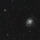 Messier 101 and NGC 5474,                                Loran Hughes