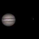 Jupiter with Callisto; Ganymede crossing Io,                                Alain DE LA TORRE