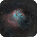 IC410 in HO-RGB,                                Prath Pavaskar