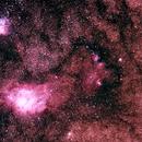 M8 Region (Lagoon/Trifid) LRGB,                                Jirair Afarian