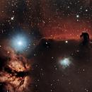 Horsehead and flame nebula,                                Nikolaos Karamitsos