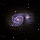 Messier 51, the Whirlpool galaxy in Canes Venatici,                                Juan José Márquez