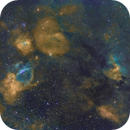 Lobster's Claw, Bubble and Cave Nebulae,                                Carastro
