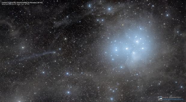 Comet C/2016 R2 PANSTARRS next to Pleiades,                    José J. Chambó
