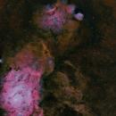 The Great Foot in  Sagittarius , M8 Lagoon Nebula, M20 Trifid Nebula IC4685,                                Michel Lakos M.