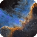 Cygnus Wall - Sii, Ha, Oiii,                                Brad