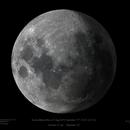 Waxing Gibbous Moon with 'Earthglow' - composite image,                                Paul Baker