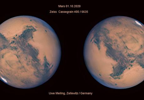 Mars new version 01.10.2020 IR-G-B,                                Uwe Meiling