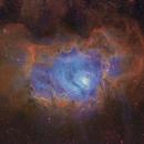 M8 - Lagoon Nebula in SHO,                                Janco
