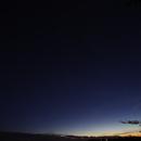 Evening over Garonne river - Saturne, Jupiter, Venus - nov. 2019, the 21st - 18h15,                                Jean-Marie MESSINA