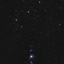 Les trois rois et la grande nébuleuse D'Orion (M42),                                Nickzo
