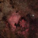 "NGC7000 / Canon 100Da + Samyang 135mm f/2.0 / Star adventurer / 114x60"" / ISO 800,                                patrick cartou"