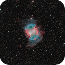 Close-up of M57, The Dumbbell Nebula, LRGBHOO, 40.6 hrs,                                riot1013