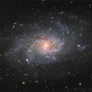 M33 with Ha region ~~~ 65%Ha+45%L - R(35%Ha)GB,                                seasonzhang813