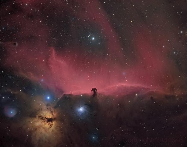 IC434 horsehead nebula HA-RGB,                                LAMAGAT Frederic