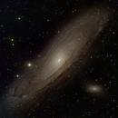 M31 Andromeda RGB+Ha,                                Aaron Freimark