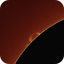 Sun with prominance and prototubes in North West Region (Plasma and gas),                                Andreas Nilsson