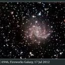 NGC 6946, Fireworks Galaxy, 17 Jul 2012 (no FR),                                David Dearden