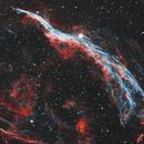 Western Veil Nebula - HOO,                                Phil Brewer