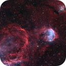 "NGC3324 (IC2599) ""Gabriela Mistral Nebula"", NGC3293 ""Little Jewelbox"", WR23,                                Rolf Dietrich"