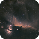 Horsehead and Flame Nebula in SHO,                                Tommy Lease